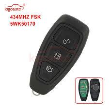 <b>Kigoauto</b> 5WK50170 <b>Smart key</b> 3 button 434Mhz for Ford Kuga ...