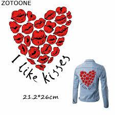 <b>ZOTOONE Happy Valentine's Day</b> I Like Kisses Patches Iron on ...