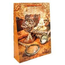 <b>Пакет подарочный</b> ламинированный Путешественник (<b>45x33x10</b> ...