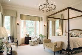 georgia greek revival elegant bedroom photo with beige walls bedroom chandelier lighting