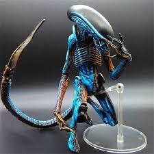 "7"" <b>NECA Toy Aliens</b> blue <b>alien</b> Xenomorph figma Predators riple ..."