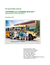 home de soto public school district  listening and learning survey