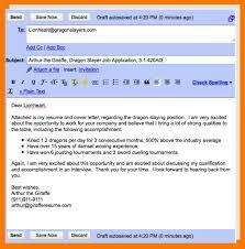8 Sample Email Cover Letter Park Attendant