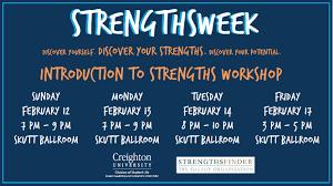 strengthsfinder student leadership involvement center strengths week 12 17