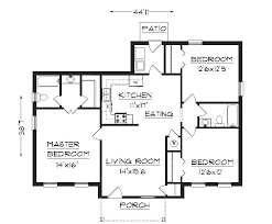 Image processing  Floor plan   detecting rooms     borders  area  and    here is a simple building floor plan