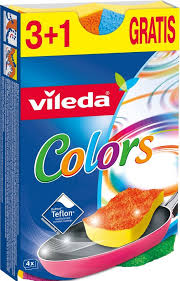 "4023103189829 <b>Губка Vileda</b> ""<b>Pure Colors</b>"", 3+1 шт"