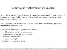 facility security officer interview questions documents tips facility security officer interview questions documents tips sharing is our passion