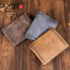 <b>AETOO Original handmade</b> suede leather vertical wallet <b>Retro old</b> ...