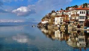 Город Охрид  озеро