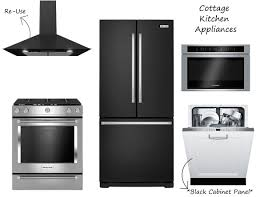 black and stainless kitchen naomis cottage appliances black and stainless kitchen aid bosch