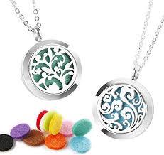 2pcs essential oil diffuser necklace