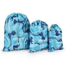 <b>Lixada Pack of</b> 3 Outdoor Travel Water Resistant Drawstring Bags ...