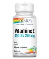 Vitamin <b>E</b> (<b>400</b> IU) - Solaray - 50 capsules