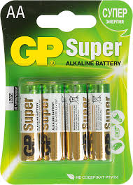 Купить AA <b>Батарейка GP Super Alkaline</b> 15A LR6 в интернет ...