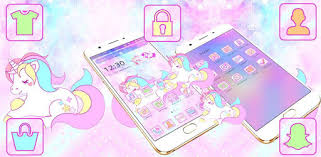 Cute <b>Dreamy Unicorn</b> Theme – Приложения в Google Play