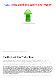 the devil and tom walker essay documents