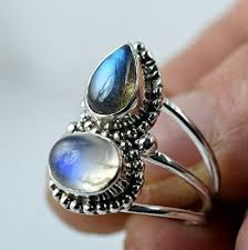 Rainbow Moonstone, Labradorite 925 Solid Sterling ... - Amazon.com