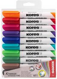"""<b>Kores Набор маркеров</b> для досок """"<b>Kores</b>"""" 3 мм, 10 штук"""