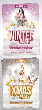 winter bash flyer template by brielldesign on winter bash flyer template by brielldesign