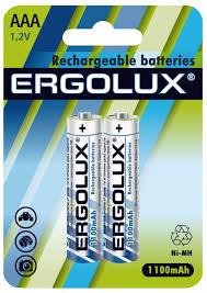 Аккумуляторная батарейка <b>Ergolux AAA</b>-1100mAh Ni-Mh BL-2