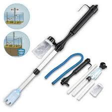 Vacuum Fish <b>Siphon</b> Tank Water <b>Aquarium Battery</b> Filter Clean ...