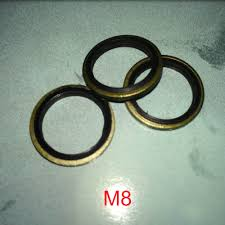<b>100 PCS Metal</b> Rubber Bonded Oil Drain Washer O Ring Seal ...