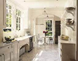 French Country Kitchen Black Marble Countertop High Glass Door Kitchen Cabinets French