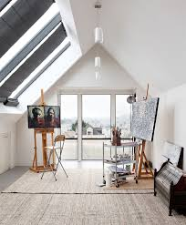 artist studio with sky light best lighting for art studio