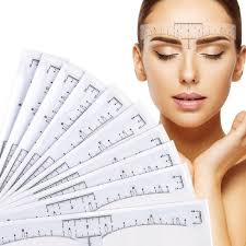 <b>10pcs Disposable</b> Eyebrow large Ruler <b>Microblading</b> Accessories ...