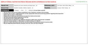 formal waiter waitress resumejpg image format   formal waiter waitress resume
