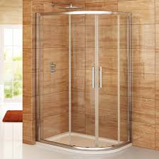 bathroom ideas corner shower design: interesting bathroom shower design with glass door using best curved small corner ideas by stainless steel