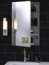 yellow recessed luxurious modern bathroom vanity