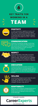 key traits for working in a team 6 key traits for working in a team infographic