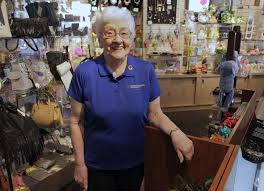 zephyrhills hospital honors volunteer 87 for logging 33 000 one of 12 gift shop volunteers sylvia kallgren is responsible for buying items for the
