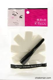 <b>Спонж косметический с</b> ручкой 10 сегм. K-Beauty Корея 0055