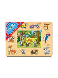 """<b>Игра из</b> дерева """"Весёлое лото. В лесу"""" <b>Степ Пазл</b> 9282334 в ..."""