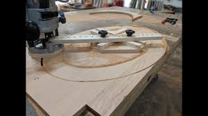 How To Build an <b>Oval</b> Cutting Jig (Elliptical Router Jig) Woodworking