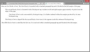 paragraphs mga blockquoted paragraphs
