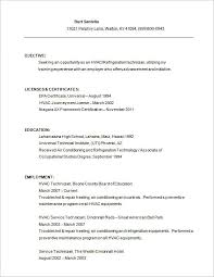 hvac resume template –   free samples  examples  format download    hvac service technician resume free download