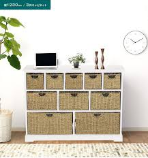 white storage unit wicker: wicker wooden white storage unit large chest of drawers storage baskets bedroom