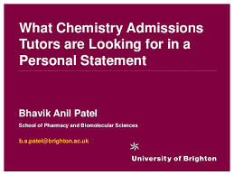 Personal statement example chemistry What chemistry admissions tutors are looking for in a personal statem