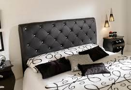 glass bedroom furniture rectangle shape wooden cabinets: black bedroom furniture set wonderful black wallpaper ideas glowing white ceramics floor black single sparing bed modern black drum shades floor lamp elite