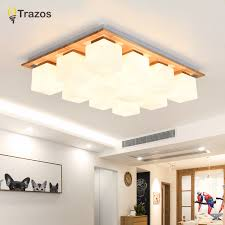 <b>TRAZOS Nordic LED</b> ceiling lamps modern wooden lights balcony ...