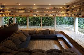 1 lowered reading room with glass walls amazing interior design ideas home