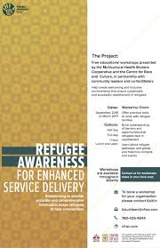 tips tricks for mentoring refugee youth an interview joey refugee awareness alberta poster final
