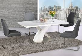 gloss white dining table chair