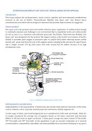 critical human factor appraisal of eva space suit