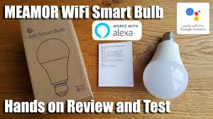 Unboxing and setup of a MEAMOR <b>WiFi Smart</b> Bulb <b>LED</b> Dimmable ...