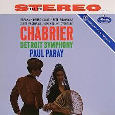 Chabrier, Detroit Symphony, Paul Paray - Espana / Danse Slave ...