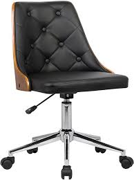 Armen Living Diamond Office Chair in Black Faux ... - Amazon.com
